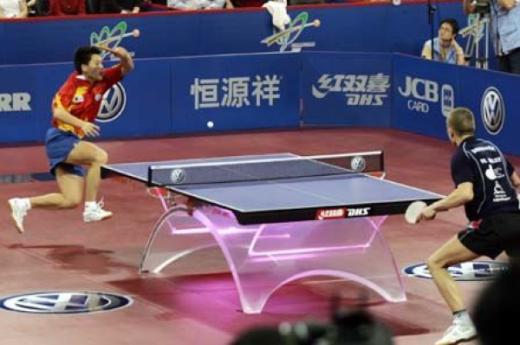 乒乓「放高球」經典戰役 – 梅茲對郝帥(圖片來源:網絡)