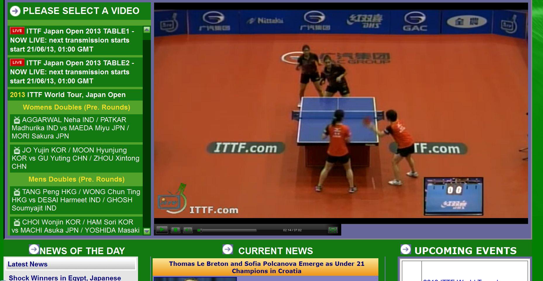 認識ITTF網站的三大好處