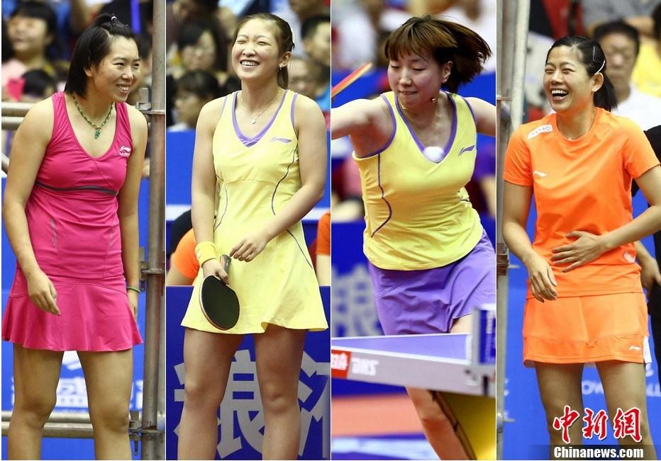中國女子乒乓球隊穿裙比賽,能吸引你嗎?(圖片來源:中國新聞網)
