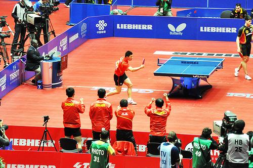 淺談由馬龍、張繼科和許昕出戰的東京世乒賽男團决賽 (Image courtesy of Vinqui at Flickr)