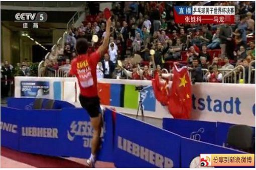 張繼科踢爛圍板慶祝奪冠,乒乓比賽只為求勝?(圖片來源:setn.com)