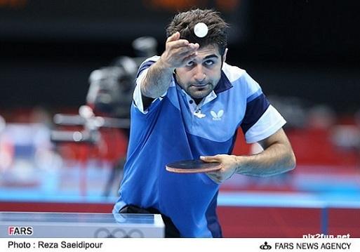 當今世上發球最厲害的乒乓球手──阿拉米揚(圖片來源:Reza Saeidipour of FARS NEWS AGENCY)