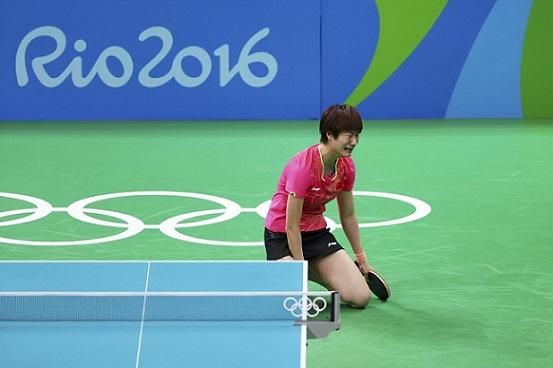 丁寧敗象已呈;水谷隼搏殺太遲──里約奧運乒乓球男女單準决賽(圖片來源:路透社)