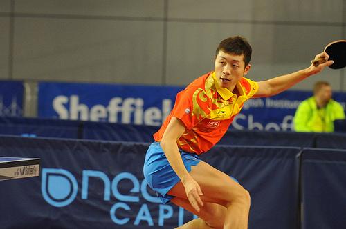 為許昕嘆喟──看瑞典世界乒乓球錦標團體賽决賽 (Image courtesy of Table Tennis England at Flickr)