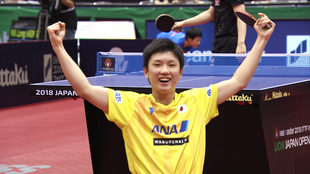 淺談日藉華裔十四歲乒乓球手張本智和,連勝馬龍、樊振東 (Image courtesy of ittf.com)